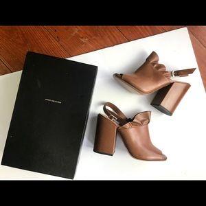 Dries Van Noten tan leather heels